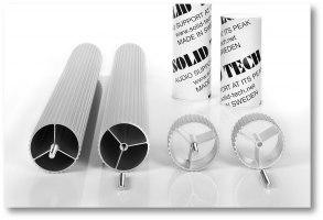 Silver Anodised Corner-Pillars Custom Lengths (pair) - Siver Anodised Corner-Pillars, Length 30-65,5mm (pair)