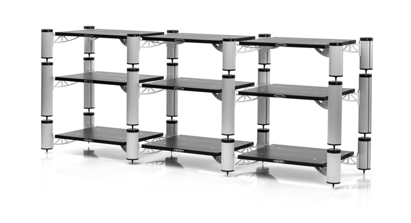 HYBRID STACKED AND ARRANGED AS A MEDIA BRIDGE 1900 X 500 X 750MM (W X D X H)