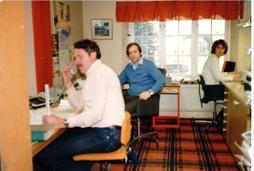 Kontoret på Bergsmansgatan. Rune Wandland, Rune Gustafsson & Marianne Gustafsson
