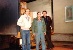 Parkett leverans. Rune Gustafsson, chauffören, Rune Wandland