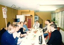 Personal firar golvsliparen Arne Larsson 60år!
