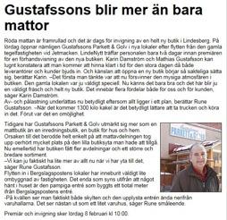 Reportage på LindeNytt