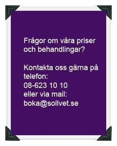 Sollentuna Veterinärklinik - Frågor om priser och behandlingar