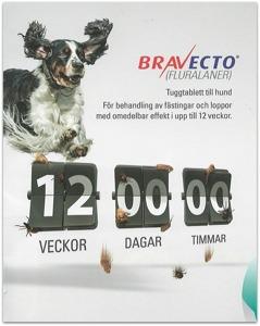 Sollentuna Veterinärklinik fästingmedel till hund Bravecto