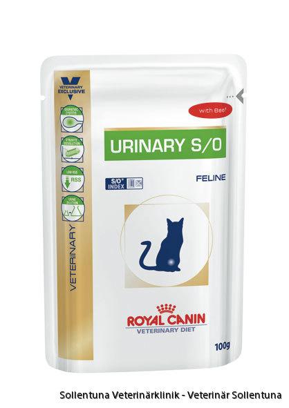 sollentuna veterinärklinik - Royal Canin Veterinary Diets Urinary S/O biff våtmat