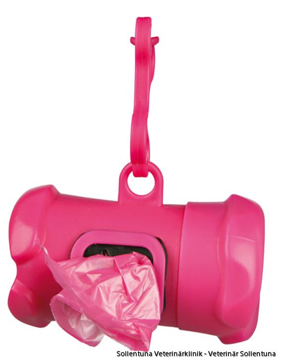 Sollentuna Veterinärklinik - Bajspåsehållare rosa