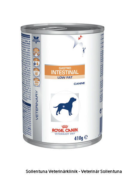 Sollentuna veterinärklinik -Royal Canin Veterinary Diets Gastro Intestinal Low Fat burk
