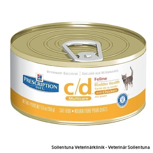 Sollentuna Veterinärklinik - Hills Vet Feline c/d - våtfoder, olika smaker