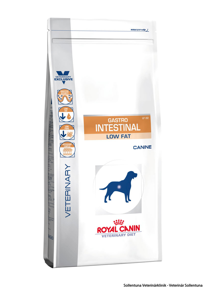 Sollentuna veterinärklinik -Royal Canin Veterinary Diets Gastro Intestinal Low Fat
