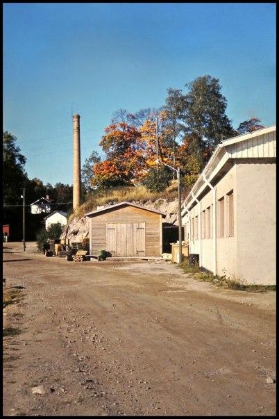 Fabriksskorstenen vid Töcksfors Bruk.