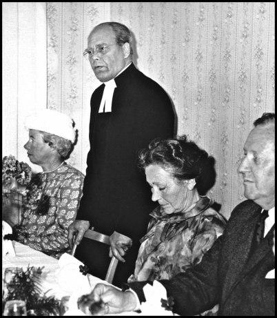 Kontraktsprost Harald Ängquist med fru. Ängquist tjänstgjorde i Töcksmarks församling på 1940- till 1960-talet.