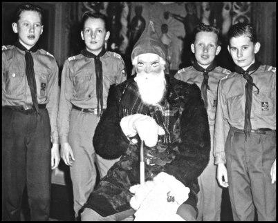 Töcksfors scoutkår på 1950- / 60-talet.