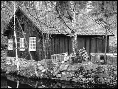 Andelstvättstugan vid nedre forsen i Töcksfors.