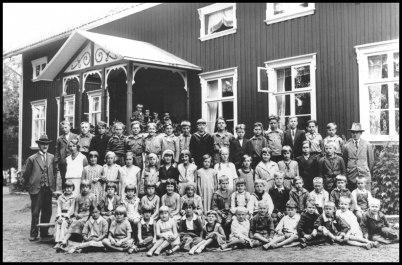Töcksfors skola på 1930-talet.