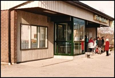 Föreningsbanken i lokalen där Westra Wermlands Sparbank finns idag.
