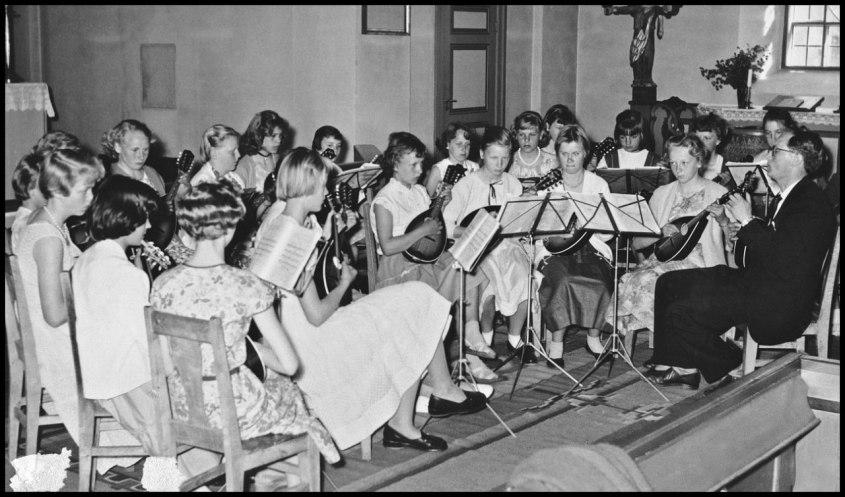 Musikavslutning i Holmedals kyrka.