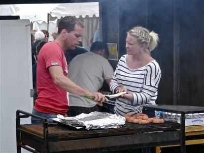 7 juli 2012 - Töcksfors IF sålde grillmat