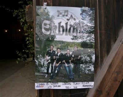 """7 juli 2012 - Dansen flyttades till logen vid """" Verke """""""