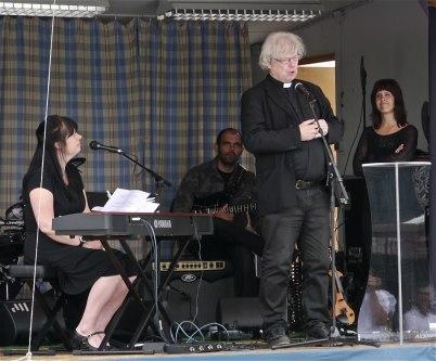 8 juli 2012 - Ekumenisk gudstjänst på torget / Töcksmarks församling, Kyrkoherde Ole Olsen