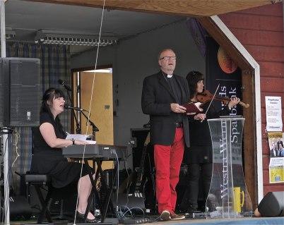 8 juli 2012 - Ekumenisk gudstjänst på torget / Missionsförsamlingen, Pastor Mogens Nielsen