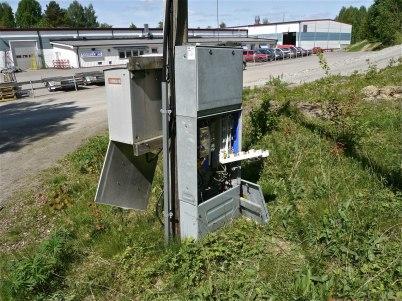 29 maj 2012 - strömmen till belysningsstolparna kopplades bort.