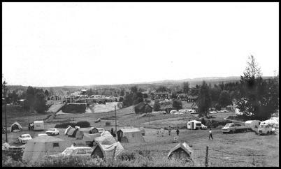 Skärmonsgärdet användes som campingplats under tävlingen.