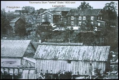 Gammal bild av Verket och Kvarnen.