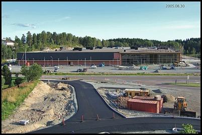 30 augusti 2005 Shoppingcentret är snart färdigt.