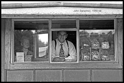 John Sanamon på 1950-talet. Bildkopia från Sverre Sanamon.