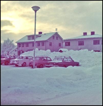 En snörik vinter i Töcksfors.