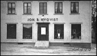 Nyqvist Lanthandel vid Bruket som senare blev Brukshandeln.