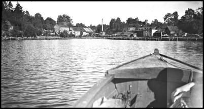 Hamnen vid Töcksfors Bruk - 1930- 1940-talet.