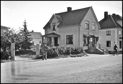 Gamla bebyggelsen vid landsvägen genom Töcksfors.