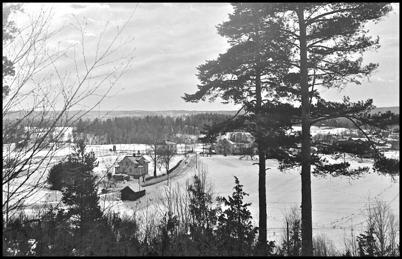 Utsikt över Töcksfors från Hytta.