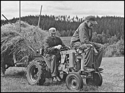 De strävsamma bröderna Karl och David var välkända i bygden.  Foto : Ulf Aronson