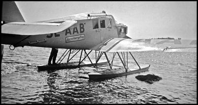 Den kände flygaren Ahrenberg besökte Töcksfors - 1930- 1940-talet.