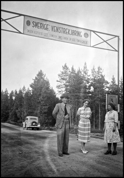 Gränspassagen från Norge till Sverige på 1940-talet.