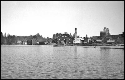 Töcksfors sågverk i slutet av 1930-talet.
