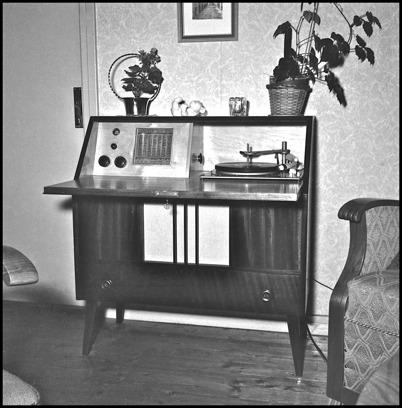 Radiogrammofon på 1940-talet.