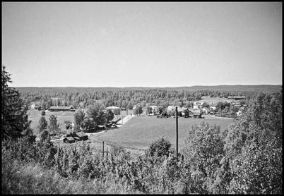 Utsikt över Töcksfors från Hytta på 1940-talet.