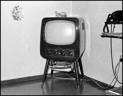 TV-apparat på 1950-talet.