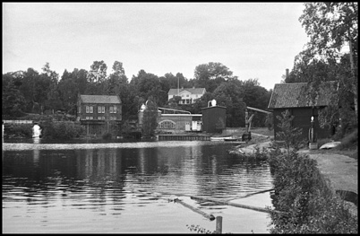 Området vid Töcksfors Bruk på 1950-talet.