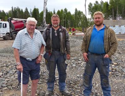 16 juli 2013 Tre generationer Danielsson - Sigurd, Gunnar och Tyrone.