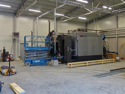 11 november 2013 - monteringen av pannorna är snart klar, vecka 49 skall dom tändas för första gången och därefter ge värme till många Töcksforsbor.