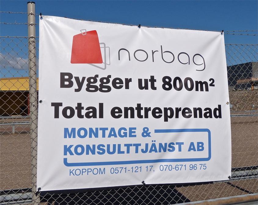 2013-05-02 Utbyggnaden av Norbag på Källhultets industriområde i Töclsfors.