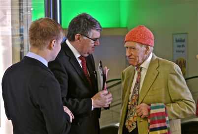 21 mars 2013 - Centerchefen Lars Erik Eröy, Kjell Eriksson och Olav Thon.