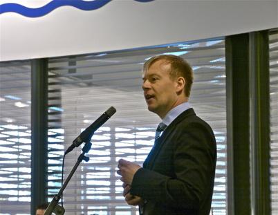 21 mars 2013 - Centerchefen Lars Erik Eröy talade.