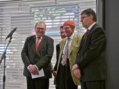 21 mars 2013 - Landshövding Kenneth Johansson, Olav Thon och Kjell Eriksson.