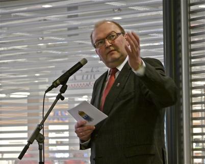 21 mars 2013 - Landshövding Kenneth Johansson talade.