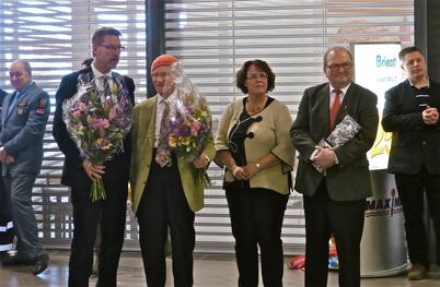 21 mars 2013 - Konsum Värmlands VD Steve Fredriksson, Olav Thon, Kommunalrådet i Årjängs kommun Katarina Johannesson och Landshövding Kenneth Johansson.